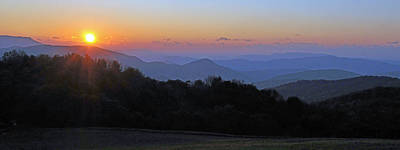 Photograph - Max Patch Sunset by Alan Lenk