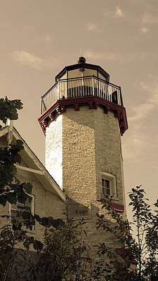 Photograph - Mcgulpin Point Light House Michigan by LeeAnn McLaneGoetz McLaneGoetzStudioLLCcom