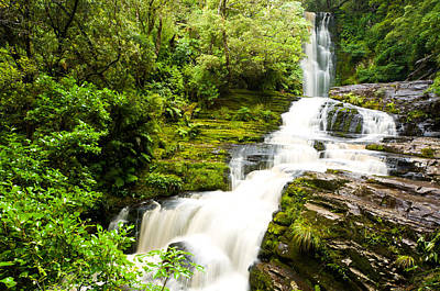Photograph - Mclean Falls In The Catlins by U Schade