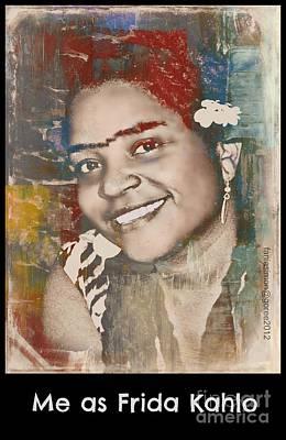 Yesayah Mixed Media - Me As Frida by Fania Simon