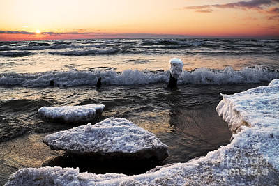 Melting Shoreline Art Print