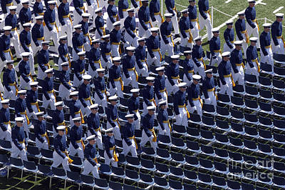 Its A Piece Of Cake - Members Of The U.s. Air Force Academy by Stocktrek Images