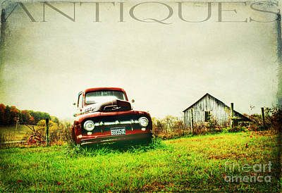 Blue Chevy Photograph - Memories by Darren Fisher