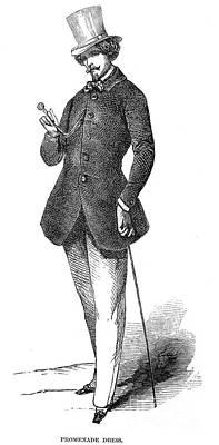 Photograph - Mens Fashion, 1850 by Granger