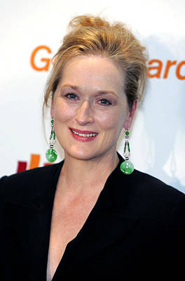 Meryl Streep At Arrivals Art Print