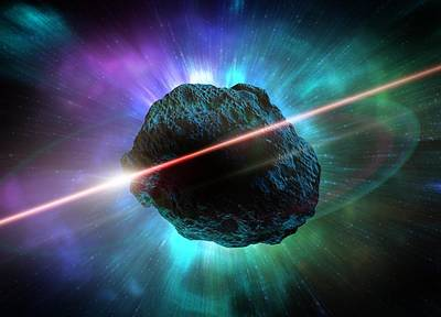 Meteor In Space, Artwork Art Print by Victor Habbick Visions