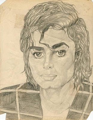 Jackson 5 Drawing - Michael Jackson by Allen Walters