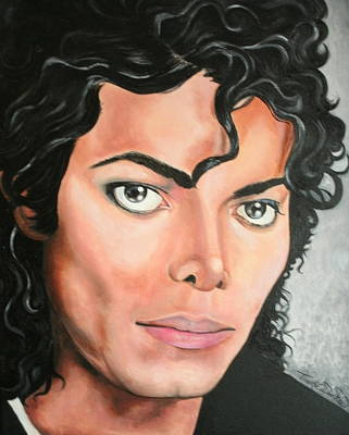 Portraits By Timothe Painting - Michael Jackson by Timothe Winstead