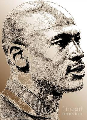 African-american Digital Art - Michael Jordan In 1990 by J McCombie