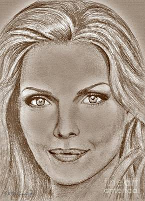 Michelle Pfeiffer In 2010 Art Print by J McCombie