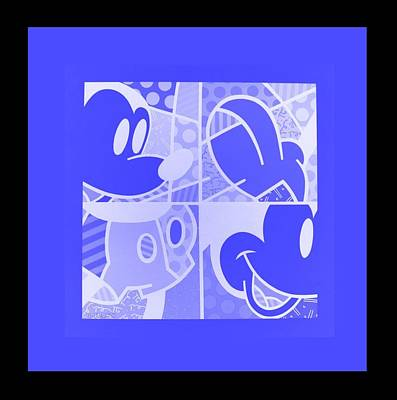 Photograph - Mickey In Negative Light Blue by Rob Hans