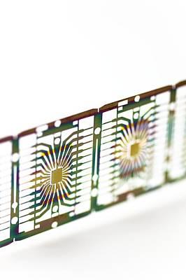 Microprocessor Chips Art Print by Pasieka