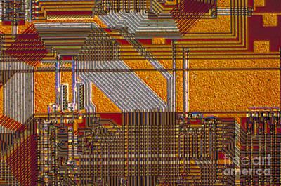 Microprocessors Art Print by Michael W. Davidson