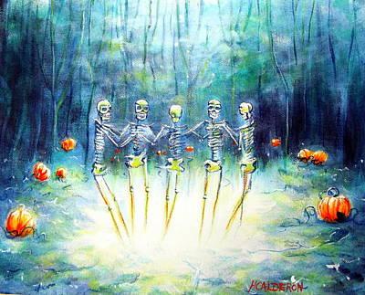 Midnight Pumpkin Ring Art Print by Heather Calderon
