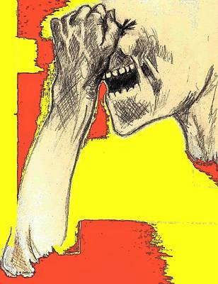 Raging Mixed Media - Migraine by Elizabeth Guilkey