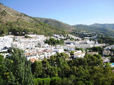 Photograph - Mijas Mountain View Of White Structures Spain by John Shiron