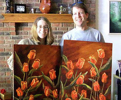 Painting - Mike And Amy by Vic  Mastis
