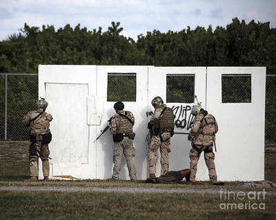 Fort Pierce Photograph - Military Reserve Members Prepare by Michael Wood