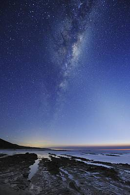 Moonlit Night Photograph - Milky Way Over Cape Otway, Australia by Alex Cherney, Terrastro.com