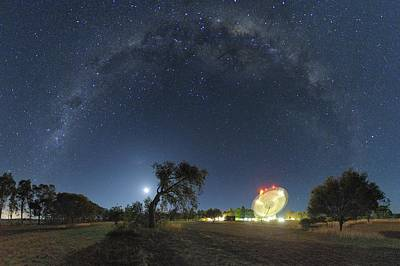 Milky Way Over Parkes Observatory Art Print by Alex Cherney, Terrastro.com