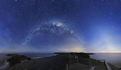 Moonlit Night Photograph - Milky Way Over Phillip Island, Australia by Alex Cherney, Terrastro.com