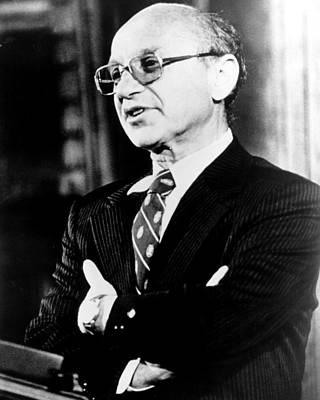Milton Friedman, 1980� Csu Art Print by Everett