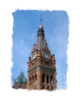 City Hall Digital Art - Milwaukee City Hall by Geoff Strehlow