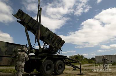 Mim-104 Patriot Missile Launcher Art Print by Stocktrek Images
