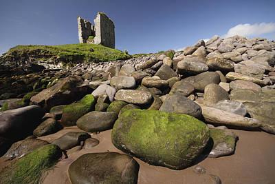 Minard Castle And Rocky Beach Minard Art Print by Trish Punch