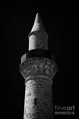 Minaret Of The Small 11th Century Touzla Mosque In Larnaca Republic Of Cyprus Art Print by Joe Fox