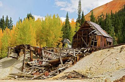 Photograph - Mining Ruins by Steve Stuller