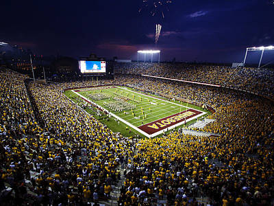 University Of Minnesota Photograph - Minnesota Tcf Bank Stadium by University of Minnesota