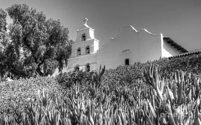 Photograph - Mission San Diego De Alcala Monochrome by Bob Christopher