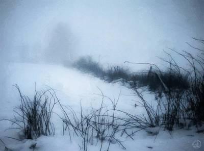 Snowscape Digital Art - Misty Morning by Gun Legler