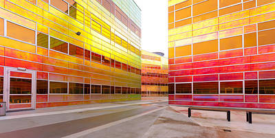 Almere Photograph - modern office building in Almere by Hans Engbers