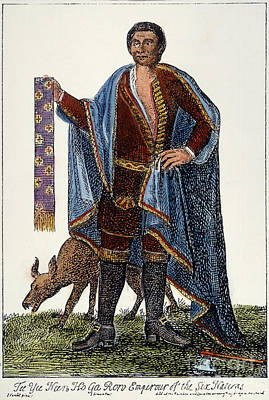 Mohawk Chief, 1710 Art Print by Granger