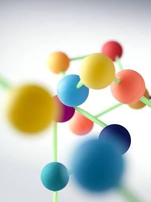 Molecular Structure Art Print by Tek Image