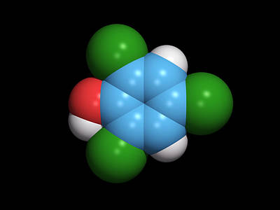 Molecule Of A Component Of Tcp Antiseptic Art Print by Dr Tim Evans