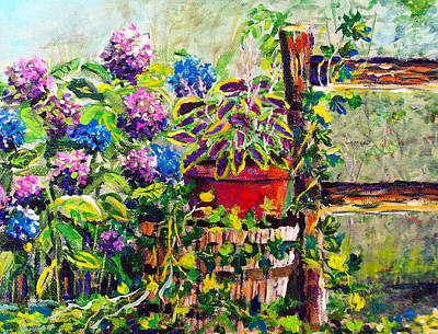 Painting - Mom's Garden by Lou Ann Bagnall