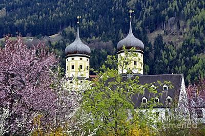 Monastery In Tyrol Art Print