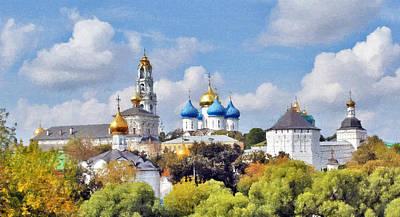 Monastery Panorama  Art Print by Aleksandr Volkov