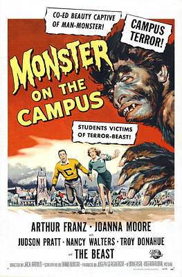 1950s Movies Photograph - Monster On The Campus, Arthur Franz by Everett