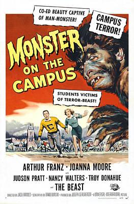 Monster On The Campus, Arthur Franz Art Print by Everett