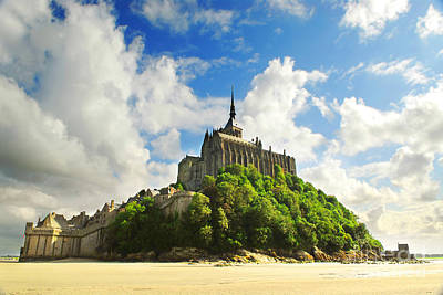 Fortification Photograph - Mont Saint Michel by Elena Elisseeva