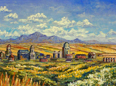 Painting - Montana Wheat Farm by Lou Ann Bagnall