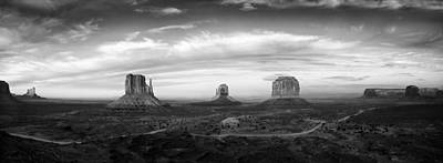 Monument Valley Panorama Art Print by Andrew Soundarajan
