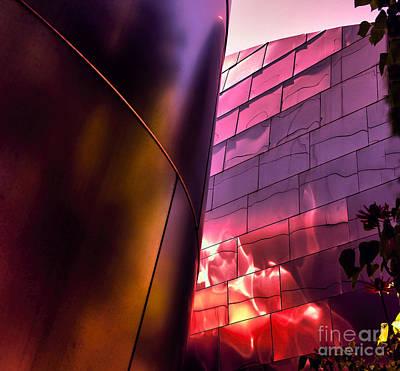 Disney Music Hall Photograph - Moods II Disney Concert Hall by Chuck Kuhn
