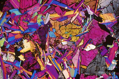 Moon Rock, Transmitted Light Micrograph Art Print