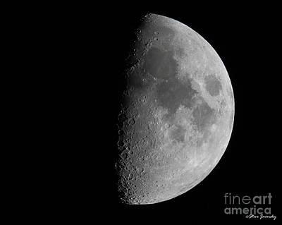 Moon Art Print by Steve Javorsky