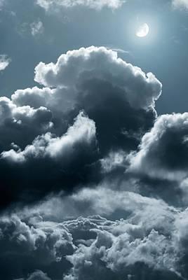Moonlit Clouds Art Print by Detlev Van Ravenswaay